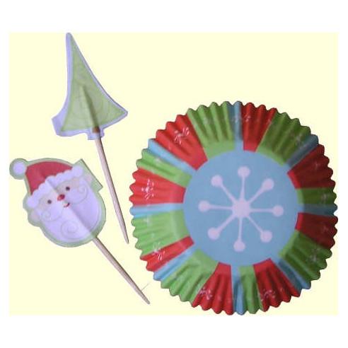 Set Cápsulas de cupcakes Navidad Nieve Wilton