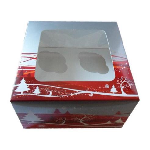 Caja 4 cupcakes Navidad