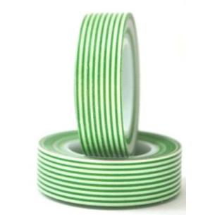 Washi tape rayas verde oscuro