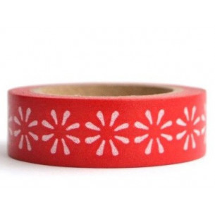 Washi tape rojo margarita