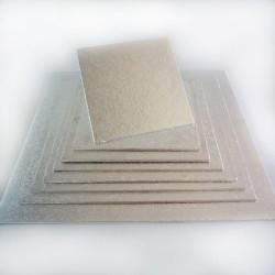 Base cuadrada 20cm (4mm) plata Funcakes