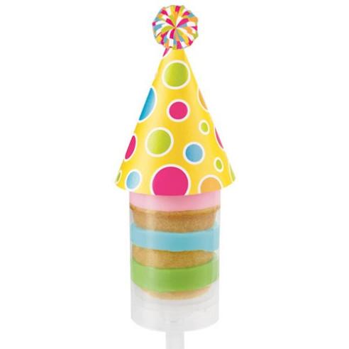 Decoraciones push up gorro de cumpleaños