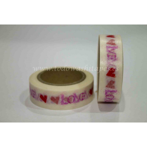 Washi Tape Love Corazones