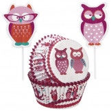 Set Cupcakes + picks  San Valentín Wilton 24u.