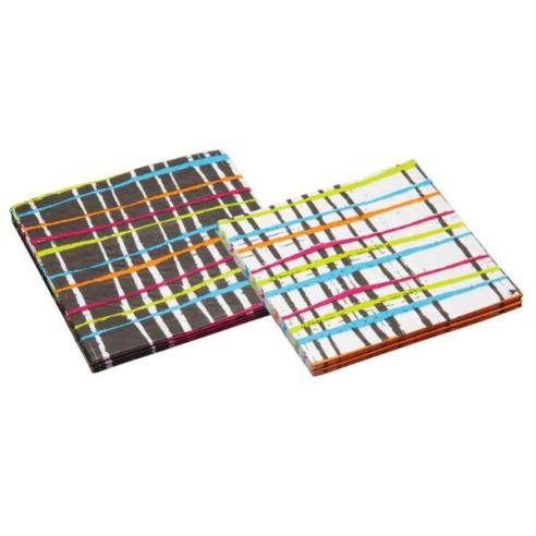 Servilletas de papel Mix Blanca/Negra Rayas (20uds)