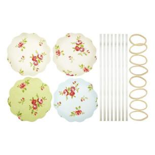 Kit para decoración de 8 tarros Rosas (24 pzs)
