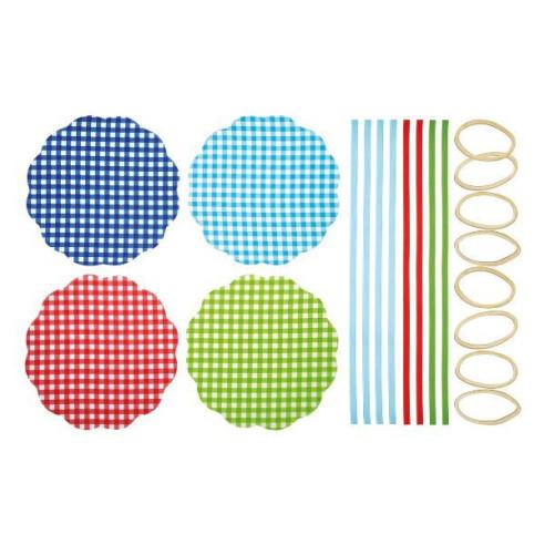 Kit para decoración de 8 tarros Vichy (24 pzs)