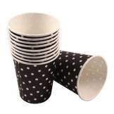 Set 10 vasos de papel Lunares Negro