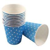 Set 10 vasos de papel Lunares Azul