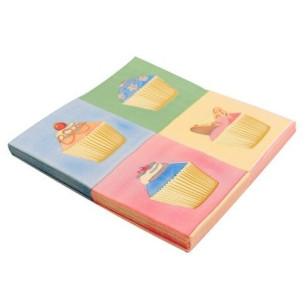 Servilletas doble capa Cupcakes Retro