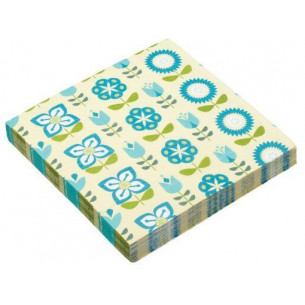Servilletas de papel Flores Azules (20 uds)