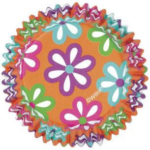 Cápsulas para cupcakes ColorCups Flores 36ud Wilton