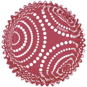 Cápsulas ColorCups Lunares Rojo 36ud Wilton