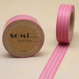 Washi Tape Rosa Espirales Blancas