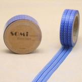 Washi Tape Azul Espirales Blancas