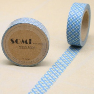 Washi Tape Cuadros Azules-Verdes