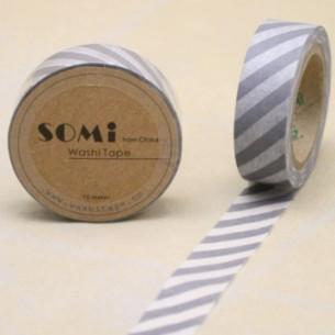 Washi Tape Rayas Grises