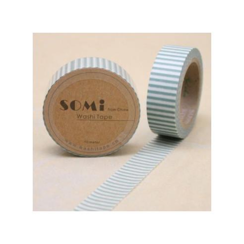 Washi Tape Rayas Verdes