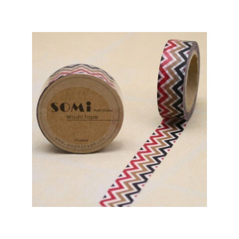 Washi Tape ZigZag Colores Mod.2