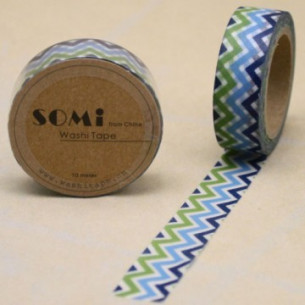 Washi Tape ZigZag Colores Mod.5