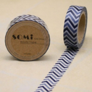 Washi Tape ZigZag Azul