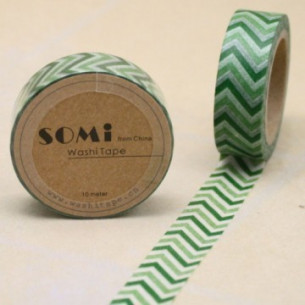 Washi Tape ZigZag Verde