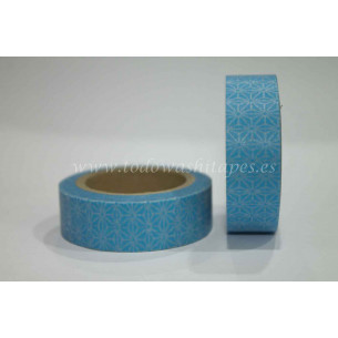 Washi Tape Azul Flor de Estrella
