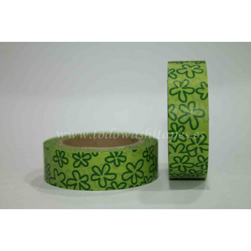 Washi Tape Margaritas Verdes