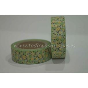 Washi Tape Flores Verdes - Amarillas