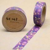 Washi Tape Morado con Gotas de Colores
