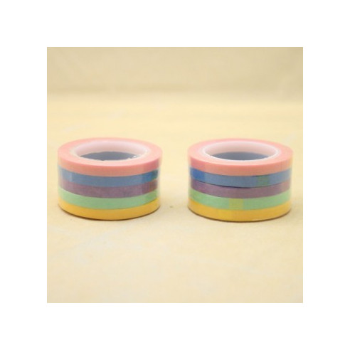 Washi Tape Set 5 Colores