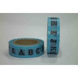 Washi Tape Azul Abecedario