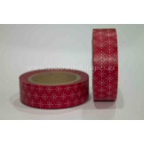 Washi Tape Rojo estampado Blanco
