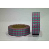 Washi Tape Rombos Rosa y Verde