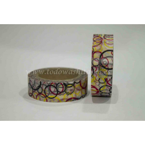 Washi Tape Circulos Colores Mod.1