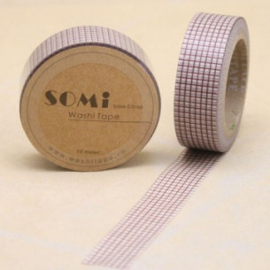Washi Tape Cuadritos Marrón