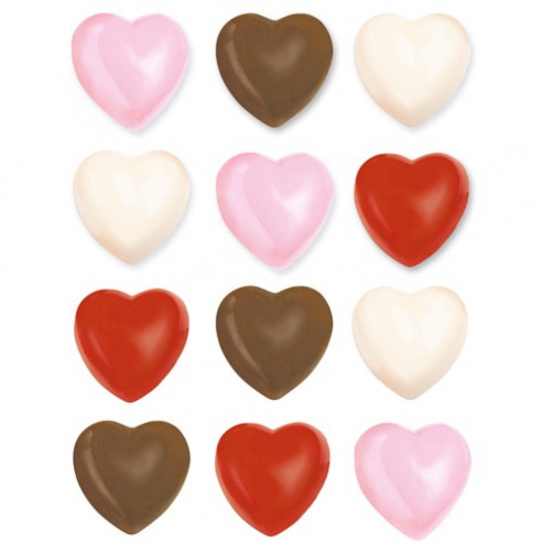 Molde chocolate/caramelo Corazones Wilton