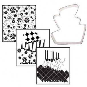 Set cortador Tarta + 3 texturas