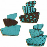 Set cortador de galletas Tarta + 3 texturas