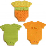 Set cortador de galletas Body bebe + 3 texturas