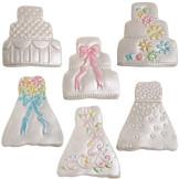 Set 2 cortadores de galletas boda + 6 texturas