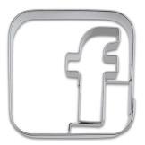 Cortador de galletas Facebook Städter 5cm