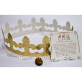Set Roscón de Reyes: Corona, tarjeta, faba