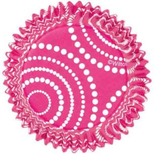 Cápsulas para cupcakes ColorCups Lunares Rosa Wilton 36ud