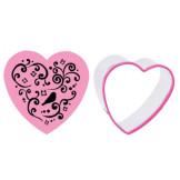 Set cortador de galletas + estampador Corazón