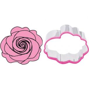 Set cortador de galletas + estampador Rosa