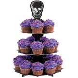 Stand Cupcakes Negro con Calavera
