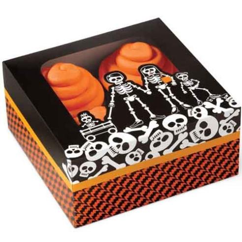 Set 3 Cajas para Cupcakes Esqueletos...