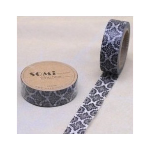 Washi Tape Blanco Flores...