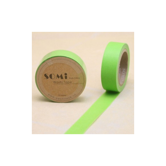 Washi Tape verde limon